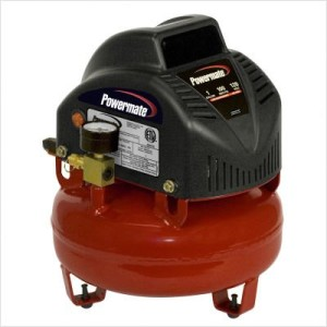 Powermate VNP0000101 1-Gallon Pancake Air Compressor with Extra Value Kit