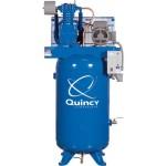 Quincy Compressor Reciprocating Air Compressor 5 HP, 208 Volt 3 Phase, 80...