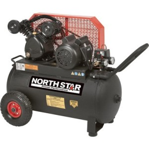 NorthStar Belt Drive Single-Stage Portable Air Compressor 2 HP, 20-Gallon, Horizontal, 5.0 CFM