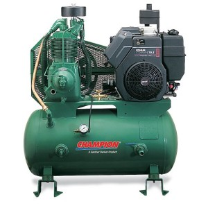 Champion Stationary Gas-Powered Air Compressor - 14 Horsepower - 30-Gallon Capacity Tank
