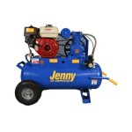 Jenny Compressors K5HGA-17P 5.5-HP 17-Gallon Tank Gas Powered Single Stage Wheeled Portable Compressor
