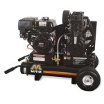 Mi-T-M AM2-PH09-08M Portable Air Compressor, 8-Gallon, Two Stage with Gasoline