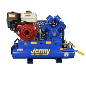 Jenny Compressors G9HGA-8P 8-HP 8-Gallon Tank Gas Powered Single Stage Wheeled Portable Compressor