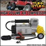 "Tuff Stuff Xtreme Portable Air Compressor 150psi High Volume- 35"" and Larger Tires"