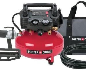PORTER-CABLE Pc1Pak 2-1/2-Inch Finish Nailer Compressor Combo Kit