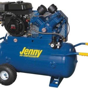 Jenny Compressors G9HGA-30P 8-HP 30-Gallon Tank Gas Powered Single Stage Wheeled Portable Compressor