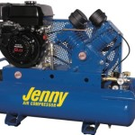 Jenny Compressors G9HGA-15P  8-HP 15-Gallon Tank Gas Powered Single Stage Wheeled Portable Compressor