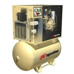 7.5 HP, 125 PSI, 28 CFM, 120 Gallon Rotary Screw Air Compressor with 'Total Air System'