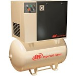 Ingersoll Rand Rotary Screw Compressor 200 Volts, 3 Phase, 10 HP, 38 CFM,...