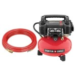 PORTER-CABLE C2004-WK 4 gallon Oil-Free Pancake Compressor with 25-Feet PU Hose and Fittings