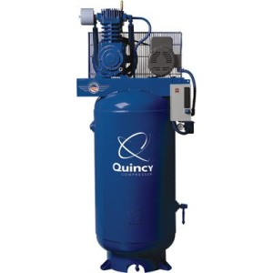 - Quincy Compressor Reciprocating Air Compressor - 7.5 HP, 230 Volt Single Phase, 80-Gallon Vertical Tank, Model# 271CS80VCB