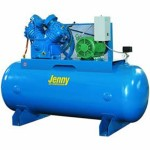 Jenny U75B-80 Two Stage Horizontal Electric Stationary Compressor with U Pump, 80 Gallon Tank, 1 Phase, 7.5 HP, 230V