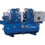 Quincy Air Compressor Duplex, 5 HP, 230 Volt 3 Phase, Model# 253DC80DC23
