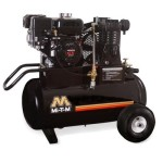 Mi-T-M AM1-PR07-20M Portable Air Compressor, 20-Gallon, Single Stage with Gasoline
