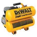 DEWALT D55153 15 Amp 1-Horsepower 4 Gallon Oiled Twin Hot Dog Compressor