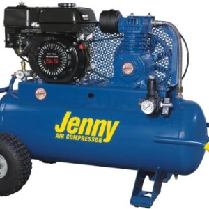 Jenny Compressors K5HGA-30P 5.5-HP 30-Gallon Tank Gas Powered Single Stage Wheeled Portable Compressor