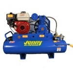 Jenny Compressors K5HGA-15P 5.5-HP 15-Gallon Tank Gas Powered Single Stage Wheeled Portable Compressor