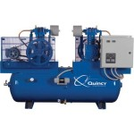 Quincy Air Compressor Duplex, 5 HP, 460 Volt 3 Phase, Model# 253DC80DC46