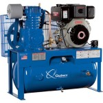 - Quincy Air Master Reciprocating Air Compressor - 10 HP Yanmar Diesel Engine, Model# D207Y30HC