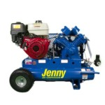 Jenny Compressors GT8HGB-8P2 8-HP 8-Gallon Tank Gas Powered Two-Stage Wheeled Portable Compressor