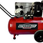 Speedway 51647 2-Hp 20-Gallon Electric 2-Cyl Cast Iron Belt Drive Compressor