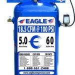 Eagle C5160V1 60-Gallon 150 PSI max Electric Compressor
