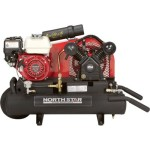 NorthStar Gas-Powered Air Compressor Honda GX160 OHV Engine, 8-Gallon Twin Tank, 13.7 CFM @ 90 PSI