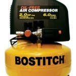BOSTITCH CAP2060P 10.5 Amp 2-Horsepower 6-Gallon Oil-Free Pancake Compressor