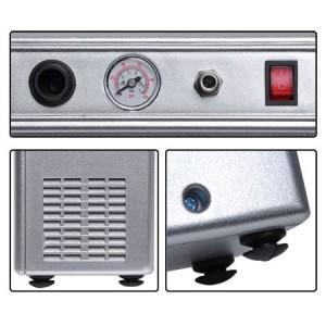 Mini Air Compressor with Built-in Pressure Gauge