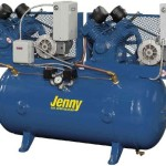 Jenny Compressors GT2C-60C-230/1 2-HP 60-Gallon Tank 1 Phase 230-Volt, Two-Stage Simplex Electric Climate Control Compressor