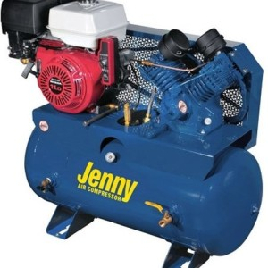 Jenny Compressors G11HGA-30T 11-HP 30-Gallon Tank Electric Start Gas Powered Single-Stage Stationary Service Vehicle Compressor