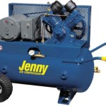 Jenny Compressors GT5B-17P 5-HP 17-Gallon Tank Electric Two-Stage Wheeled Portable Compressor