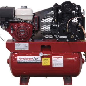 Schrader SA61130HHD 11 HP Gas Honda 30-Gallon Tank Heavy Duty Air Compressor