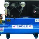 Eagle TT318E-DV 8-Gallon 150 PSI Max Electric Compressor, Twin Tank