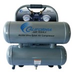 California Air Tools CAT-4620A Ultra Quiet and Oil-Free 2.0 Hp 4.6-Gallon Aluminum Twin Tank Air Compressor