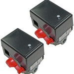 Porter Cable C3150 / C2550 Air Compressor (2 Pack) Replacement 4 Port Pressure Switch # 5140117-89-2pk
