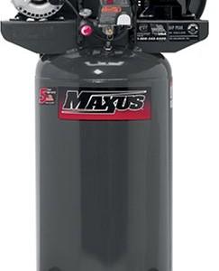 Maxus EX8008 15/7.5 Amp 2 Horsepower 26 Gallon Oiled Vertical Compressor with Dual Voltage 120/240-Volt