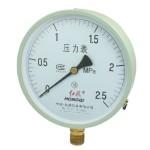 0-2.5MPa 20mm Thread Diameter Round Face Water Air Pressure Gauge