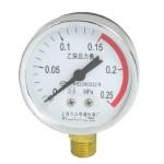 0-0.25MPa 14mm Thread Metal Shell Pneumatic Acetylene Pressure Gauge