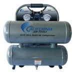 California Air Tools CAT-4610 Ultra Quiet and Oil-Free 1.0 Hp 4.6-Gallon Steel Twin Tank Air Compressor