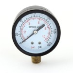 "0-10bar 0-150psi 1/4"" PT Round Dial Metal Shell Gaseous Air Pressure Gauge"