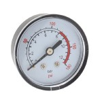 0-180 PSI 13mm Dia Threaded Plastic Shell Air Pressure Dial Gauge