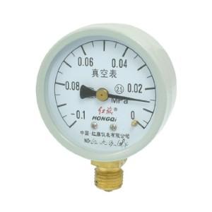 """0.1-0MPa Round Face 3/8"""" NPT Thread Water Air Pressure Gauge"""