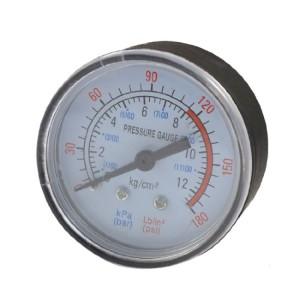0-180 Psi 0-12 Bar Black Plastic Shell Air Pressure Dial Gauge