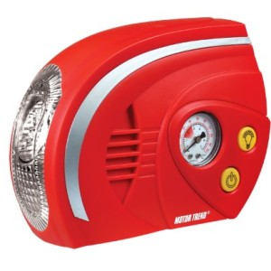 Motor Trend (CPM-0170) 12V Medium Duty Air Compressor With Gauge and 5 LED Work Light