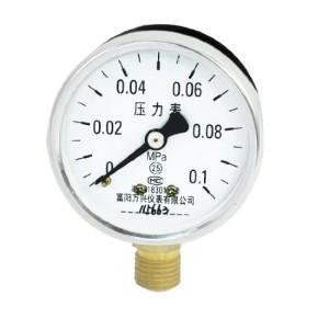 0-0.1Mpa Arabic Number Display Dial Air Compressor Pressure Gauge