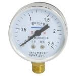 0-2.5MPa 14mm Male Thread Metal Case Pneumatic O2 Pressure Gauge