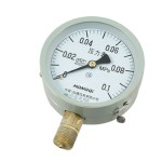 0.1 Mpa White Dial Black Hand Pressure Gauge for Air Water