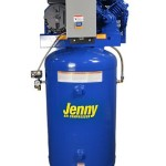 Jenny Compressors GT5B-80-230/1 5-HP 80-Gallon Tank 1 Phase 230-Volt, Horizontal Electric Two-Stage Stationary Compressor