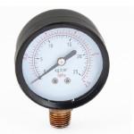 "0-25kg/cm2 0-2.5Mpa 1/4"" PT Male Threaded Black Round Case Air Pressure Gauge"